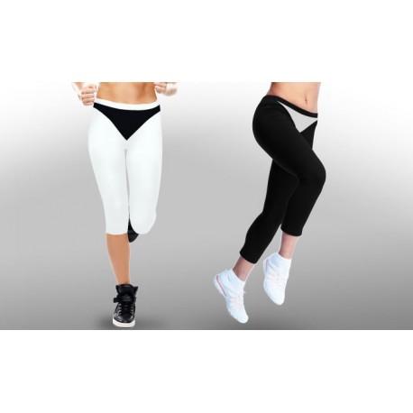 Pantacourt fitness/running minceur bicolore
